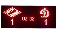 Универсальное электронное спортивное табло MEVY красное 200х88см