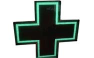 Светодиодный аптечный крест MEVY зелёный двухсторонний 104х104см