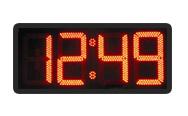 Электронные уличные часы MEVY красные 168х56см